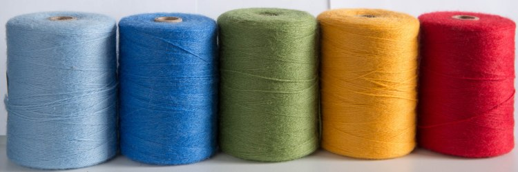 Spools of weaving wool
