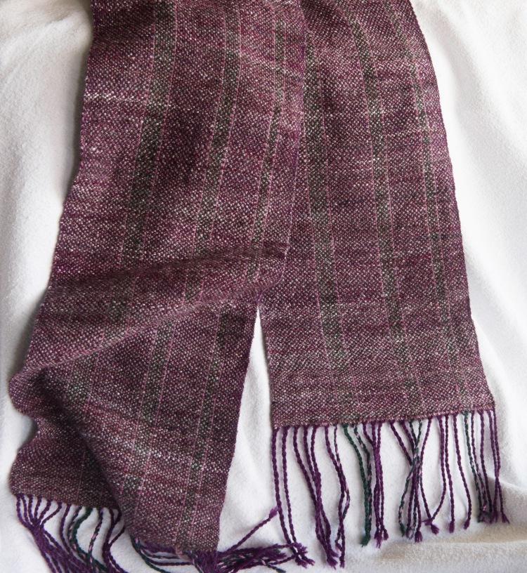 Purple silk and merino