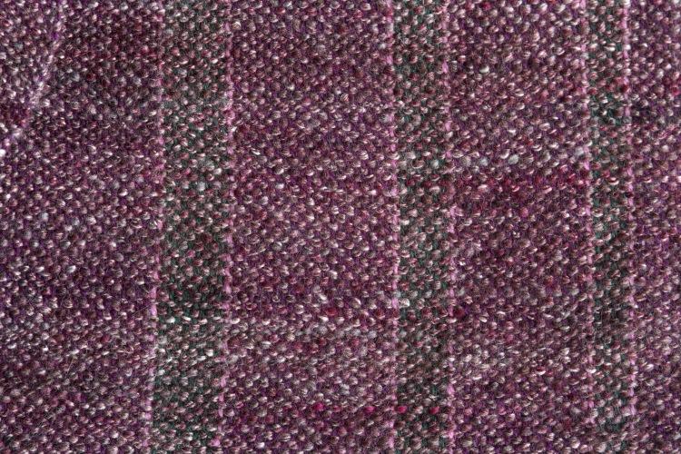 Purple scarf handwoven from handspun merino and silk