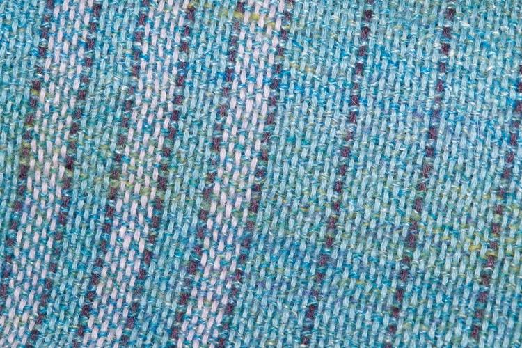 Commissioned shawl in merino, alpaca, and silk